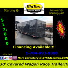 2019 Covered Wagon 30' Race Trailers