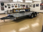 open tilt flatbed trailer