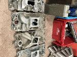 BBC SBC SB2 aluminum intake manifolds