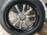RC Components drag front wheels with Mickey Thompson tires.