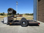 Vintage race trailer, for midget or other small type vehicle