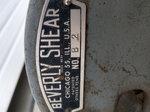 Beverly Shear B-2 throatless on stand