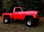 Mud Racing Red Truck