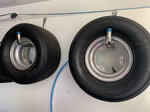 Junior dragster aluminum rear wheels.