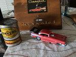 Tom Mongoose 57 Chevrolet funny car in case
