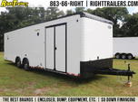 BLACK and WHITE 30' Continental Race Trailer - Spread Axle