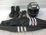fire jacket,gloves,shoes,helmet,collar  for sale $225