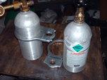 2 large CO-2 bottles & brackets  for sale $150