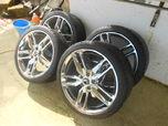 C7 Corvette Chrome Z51 rim/tires  for sale $1,800