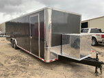 Charcoal Gray 8.5x28TA Enclosed Racing Trailer for Sale $11,084