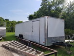28' White Enclosed Cargo Trailer  for sale $5,500