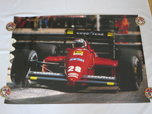 Vintage Ferrari F1 Formula One Gerhard Berger Racing Car Pos  for sale $100