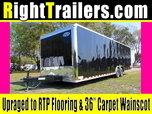 28' Black Continental Race Trailer - Hard Loaded - IN STOCK