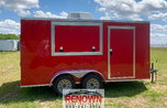 **NEW** 7x14 Enclosed CONCESSION Trailer w/13,500 A/C w/ Hea  for sale $6,999