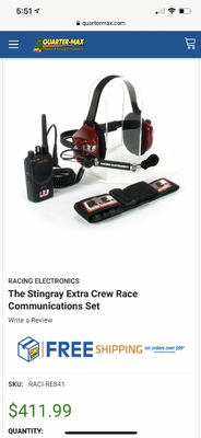 Racing electronics radios and headsets. 4 radios