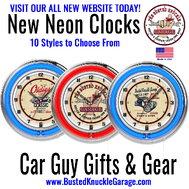 Neon Shop Clocks - Assorted Colors & Designs