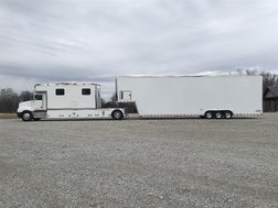 1990 T-600 KW and 2008 Pace Shadow GT 3 car gooseneck stacke  for sale $105,000