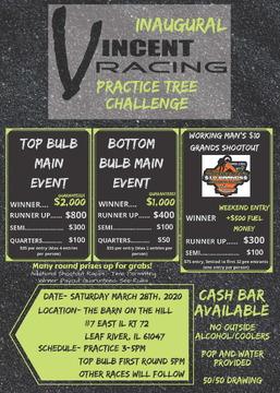 3/28/20 - Vincent Racing Practice Tree Challenge-POSTPONED