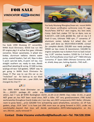 VINDICATOR FORD RACING