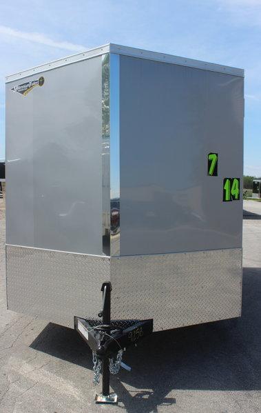 2020 7'x14' Silver/Brandywine w/Ramp Door, V-Nose