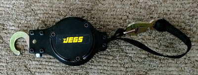 Jegs retractable tow strap