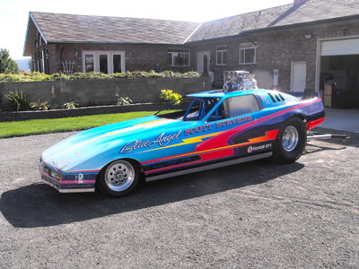 Corvette Wheelstanding Funny Car
