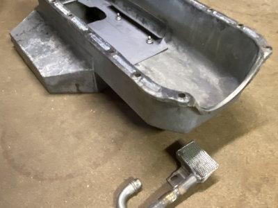 Circle track oil pan SBC w/ low profile pickup tube