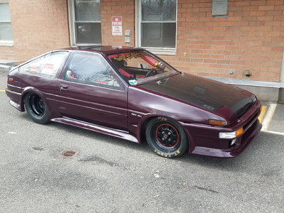 1986 toyota corolla sr5 drag car