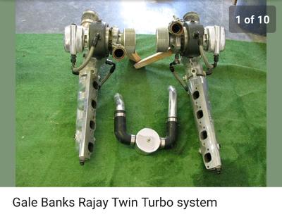 big block Gail Banks twin turbo kit for marine