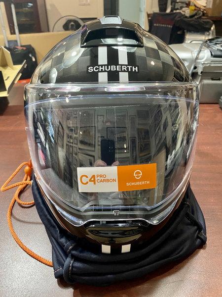 Schuberth C4 Pro Fusion Carbon XXL White Modular Helmet  for Sale $789