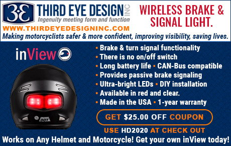 inView Wireless Helmet Mounted Brake and Turn Signal Light   for Sale $225