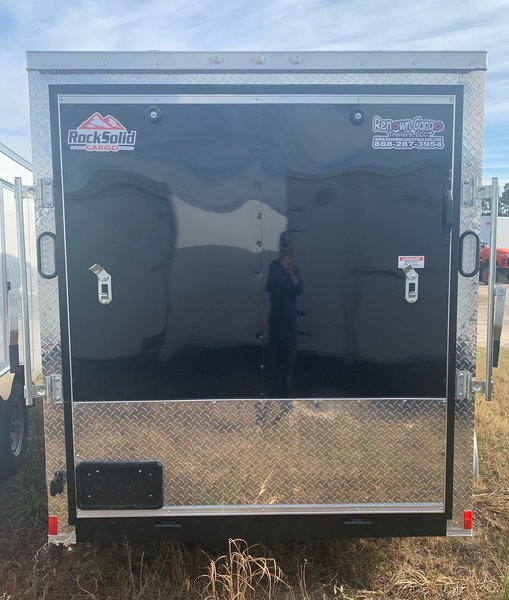 Black 6x12TA Enclosed Motorcycle Trailer  for Sale $3,795