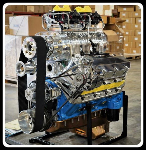 BBC CHEVY 572 TURN KEY ENGINE, DART BLOCK 740 hp-SERPENTINE  for Sale $12,395