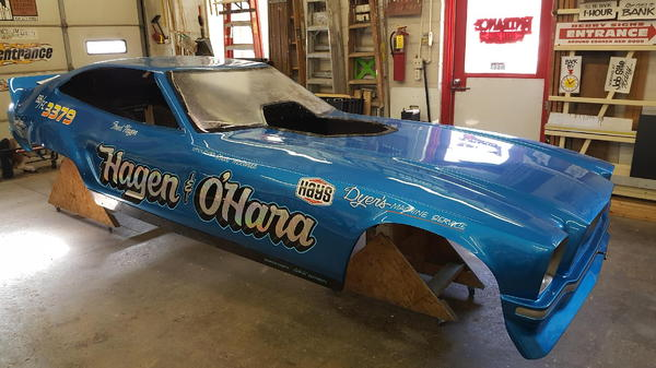 Alcohol Blown Vintage Mustang Funny Car