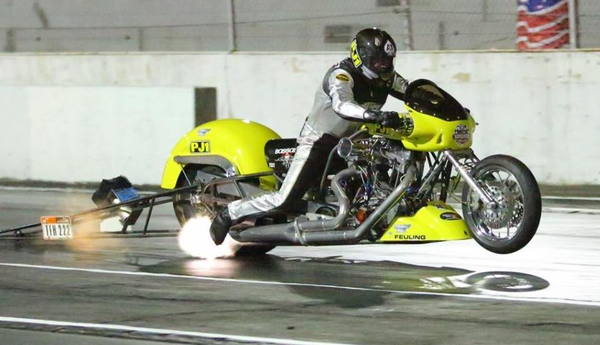 """NHRA 800-HP Nitro Harley Top Fuel Motorcycle""  for Sale $75,000"