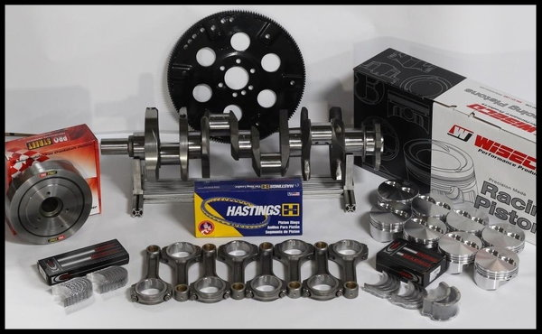 "383 STROKER ASSEMBLY SCAT CRANK 6"" ROD WISECO 040FT 2PC  for Sale $1,139"