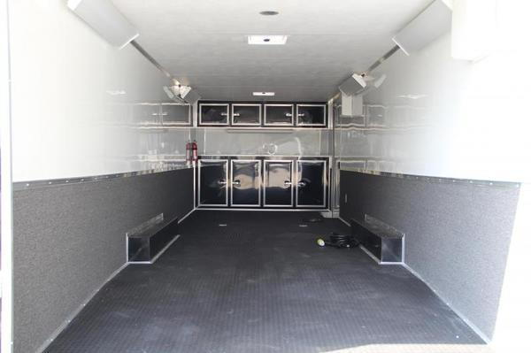 28' Black Continental Race Trailer - Hard Loaded