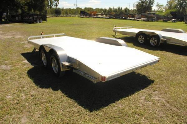 7x18 ATC Car Trailer 18' Aluminum Car Hauler - Alum Wheels I