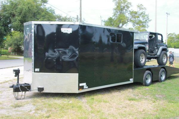 28 ft Wedge Front Hybrid Trailer