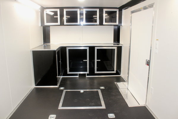 CALL FOR SALE PRICE 2019 28' Black Trailer w/Black Cabs