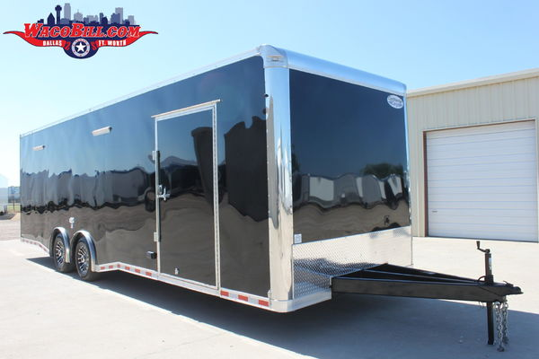 28' Nitro 12K SPD-LED Loaded Race Trailer Wacobill.c