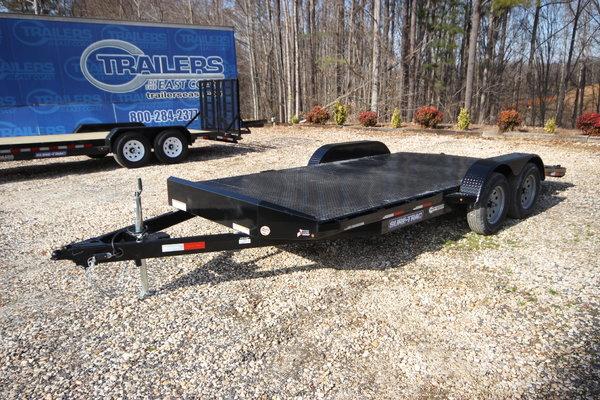 2019 Sure-Trac 18ft Steel Deck Open Car Trailer