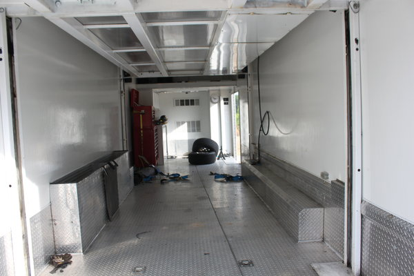 1999 Fl70 and renegade stacker trailer