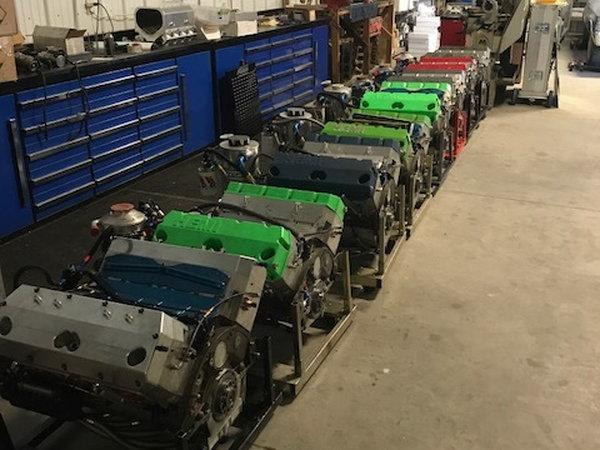 Pro stock Mopar Hemi motors