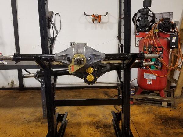 Rear End Storage Rack Powder Coated on Locking Wheels