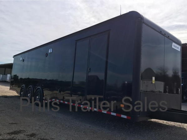 34' HAULMARK EDGE PRO RACE TRAILER BLACKOUT  WITH NEW   for Sale $37,499