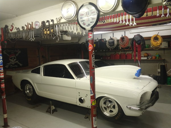 65 fastback mustang, Grudge, no prep, outlaw 10.5, heads up  for Sale $75,000