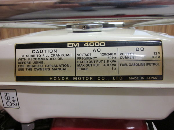 Honda EM4000 generator   for Sale $800