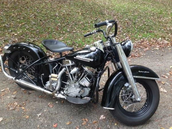1952 Harley Panhead El, Police Bike 61ci   for Sale $12,000