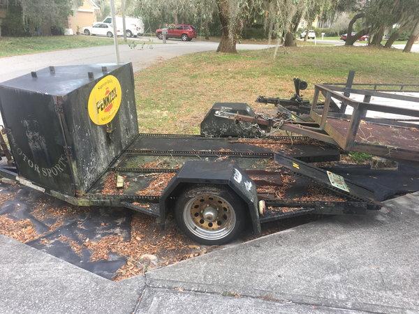 Car trailer w/cargo box